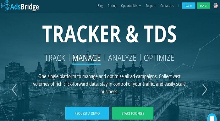 Tracker tool for Traffic Arbitrage AdsBridge