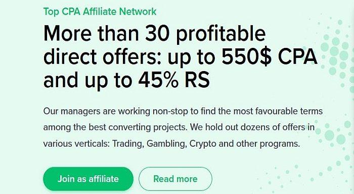 The best Cryptocurrency affiliate network BIGGICO