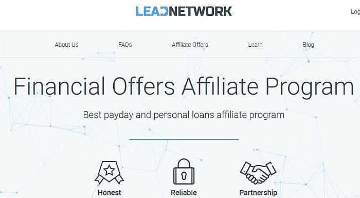 Payday loans affiliate program Leadnetwork