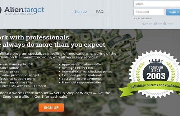 Pharma Affiliate Network ALienTarget