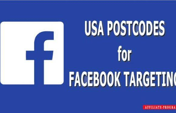 USA postcodes for Facebook targeting