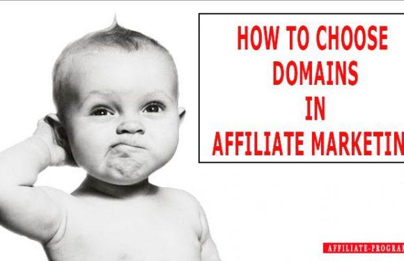 Domain names in Affiliate Marketing