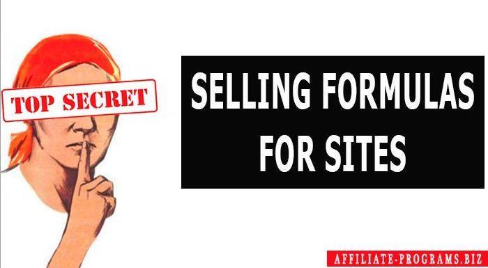 Selling formulas for Sites