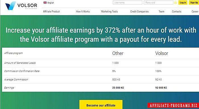 Payday Loans Affiliate Program Volsor