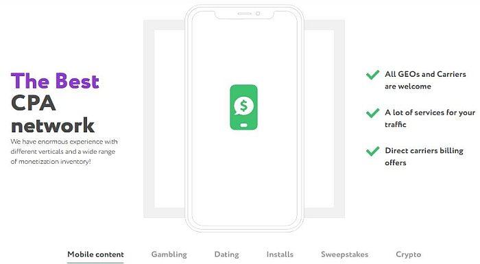 Mobile Smartlink Affiliate Program OLIMOB